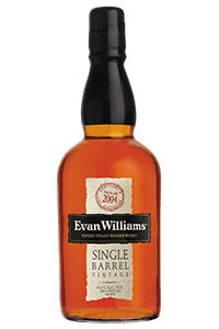 Evan Williams Single Barrel 2004 Vintage. Image courtesy Heaven Hill.