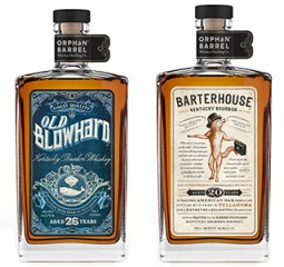 Old Blowhard and Barterhouse, the first two releases in Diageo's Orphan Barrel series of whiskies. Images courtesy Diageo.