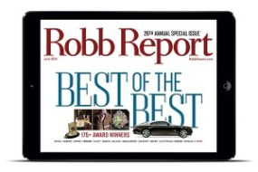 Robb Report's 2014 Best of The Best Cover. Image courtesy Robb Report.