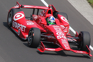 Dario Franchitti during practice for the 2012 Indianapolis 500, which was his third victory in the 500. Photo ©2012 by Mark Gillespie.