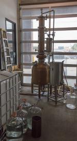 The still at Corsair Artisan Distillery in Bowling Green, Kentucky. Photo ©2013 by Mark Gillespie.