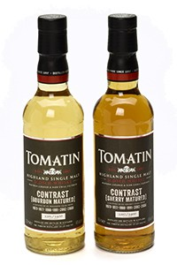 The 2-bottle Tomatin Contrast Highland Single Malt set. Image courtesy Tomatin.