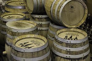 Barrels at Corsair Artisan Distillery's Bowling Green, KY distillery. Photo ©2013 by Mark Gillespie.