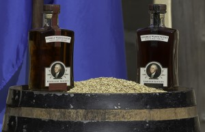 The George Washington's Single Malt expressions on display at Mount Vernon October 13, 2015. Photo ©2015 by Mark Gillespie.