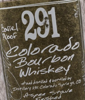 The label for 291 Colorado Bourbon. Photo ©2016, Mark Gillespie/CaskStrength Media.