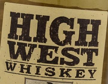 A High West Whiskey label. Photo ©2016, Mark Gillespie/CaskStrength Media.