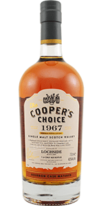 Cooper's Choice 1967 Lochside. Image courtesy The Vintage Malt Whisky Company.