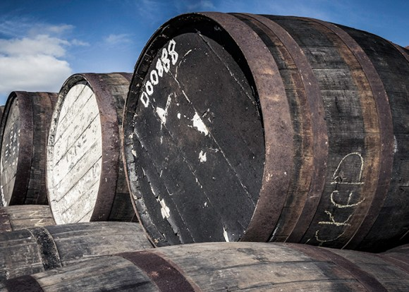 Will 2018 be a bright, sunny year for the whisky industry, or will it be a year more like the label on the barrel at top right. Photo ©2016, Mark Gillespie/CaskStrength Media.