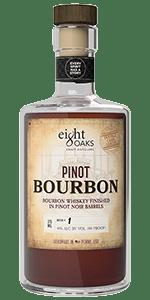 Eight Oaks Pinot Bourbon. Image courtesy Eight Oaks Craft Distillers.