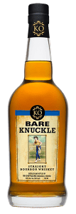 Bare Knuckle Straight Bourbon. Image courtesy KO Distilling.