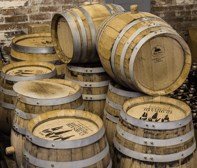Proposed changes to federal regulations could make small barrels like these used at Corsair Artisan Distillery obsolete. File photo ©2018, Mark Gillespie/CaskStrength Media.