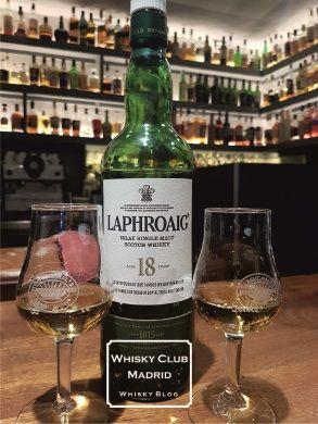 Laphroaig 18 - cata en Whisky Club Madrid