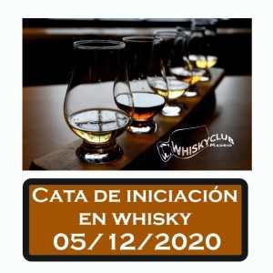 Cata de iniciación en whisky el 5 de diciembre 2020 en Madrid