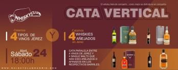 Catamos 4 tipos de vinos de Jerez y 4 whiskies escoceces de una sola malta