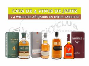 Whisky y Jerez en una cata vertical paralela