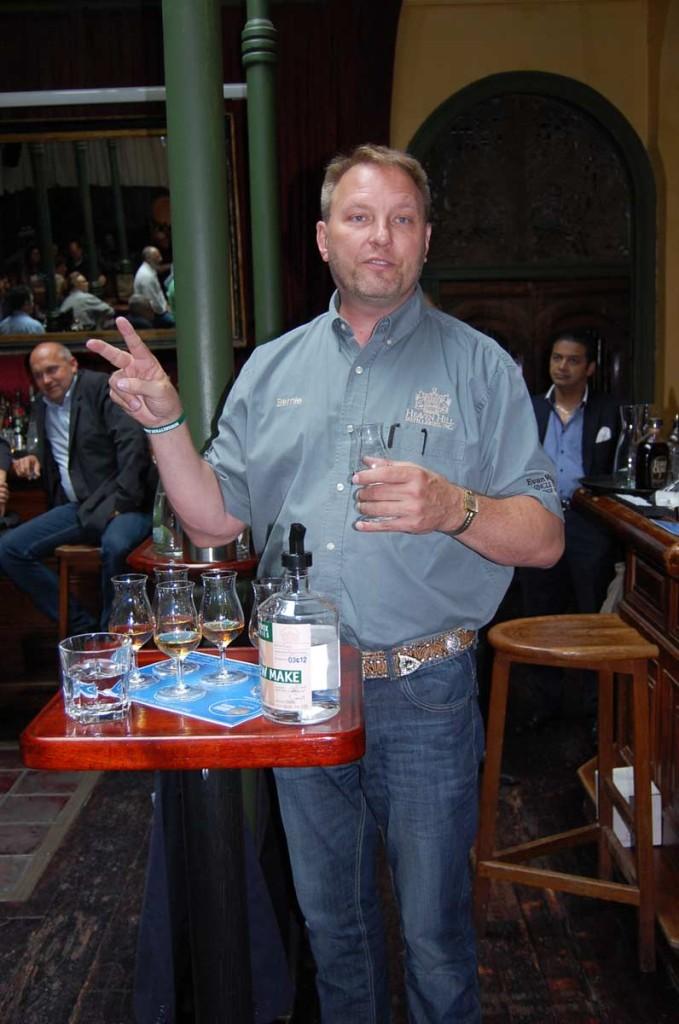 Bernie Lubbers während seines Vortrags über die Geschichte des Bourbon