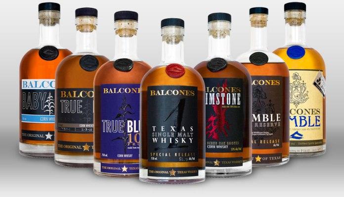 Abfüllungen aus der Balcones-Distillery