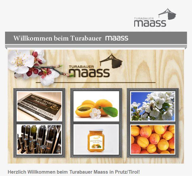 Die Website vom Turabauer Maass in Prutz/Tirol