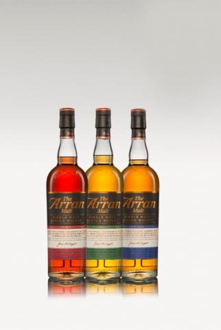 Cask finish - trio bottles together