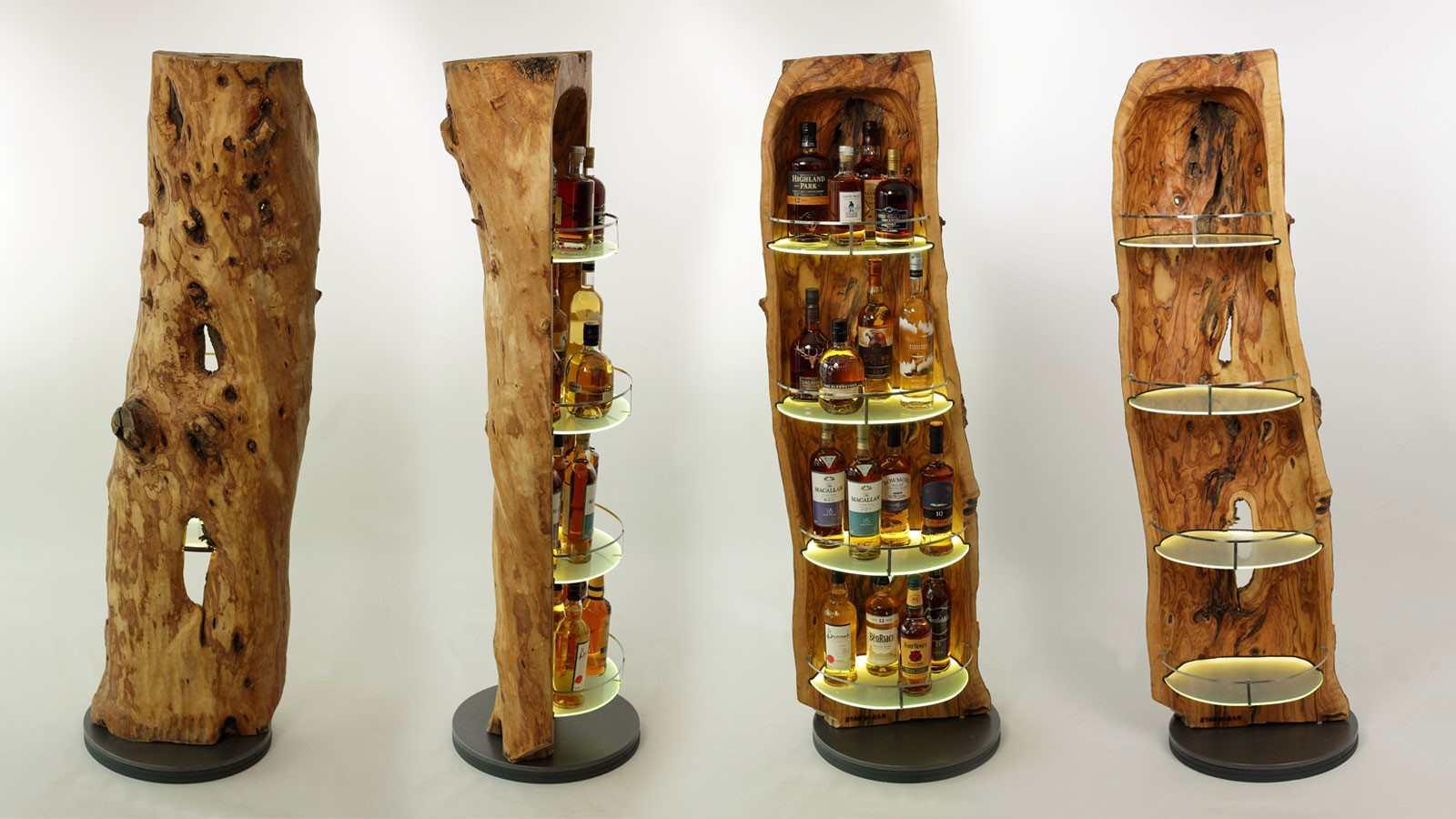 Baumstamm Für Wohnung whiskybar einmal anders: die stamm-bar aus der schweiz - whiskyexperts