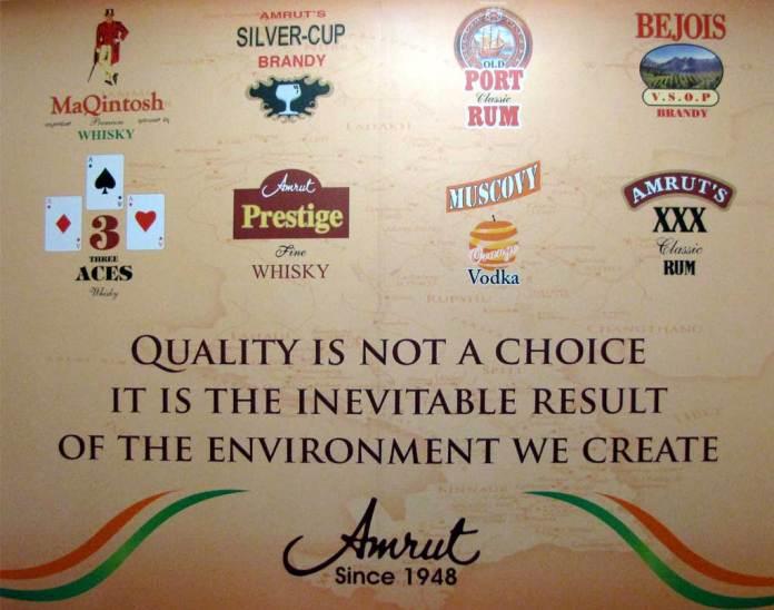 Amrut's Marken für den indischen Markt