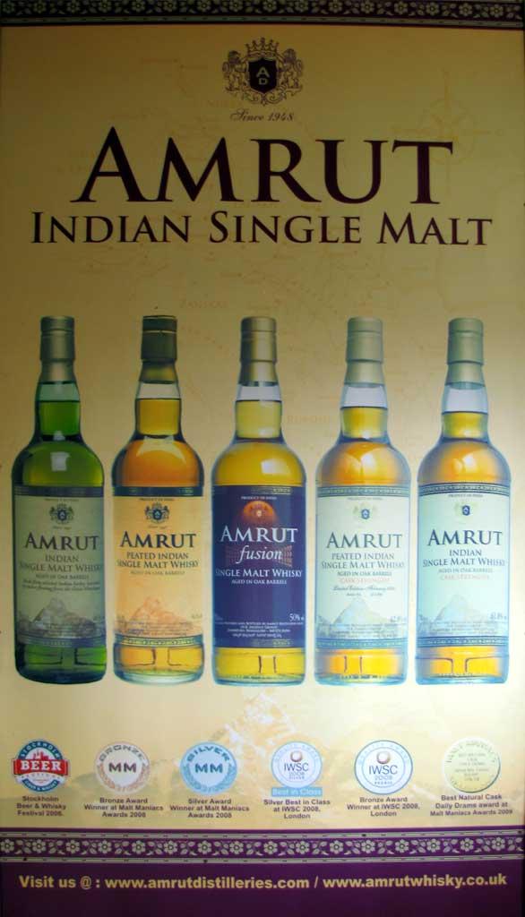 Die Core Range von Amrut Indian Single Malt