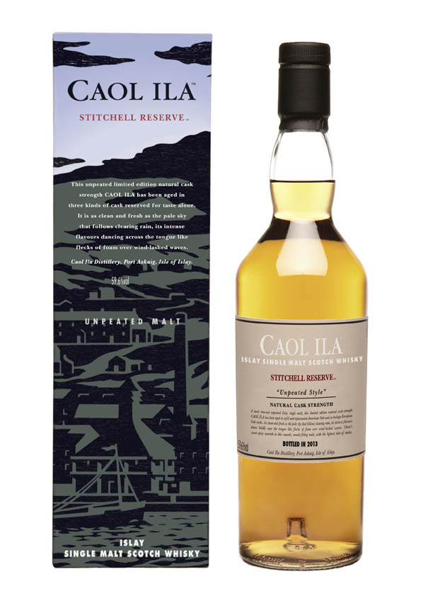 Caol Ila Stitchell Reserve bottle & box