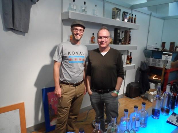 Firmengründer Robert Birnecker mit Whiskyexpert Bernhard Rems auf der  Whisky & Rum in Granz