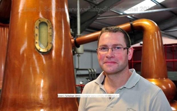 """Shane Fraser von Wolfburn: """"Ich wollte schon immer einmal einen Whisky von Anfang an machen."""" Foto Copyright The Gateway to Distilleries 2013."""