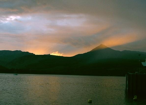 Sonnenuntergang über Goatfell, Isle of Arran, Foro von Grinner, CC-Lizenz
