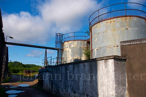 Watertanks at the closed Convalmore Distillery
