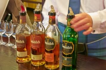 Whisky tastting, Glenfiddich distillery