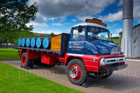 Classic lorry, Glenfiddich Distillery