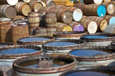 Old whisky casks