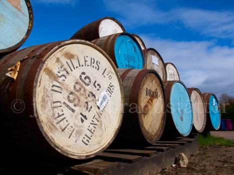 Ex-Bourbon barrels, Coleburn Distillery