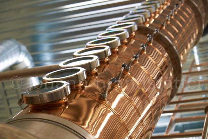 Column still at the Aurora Spirit Distillery