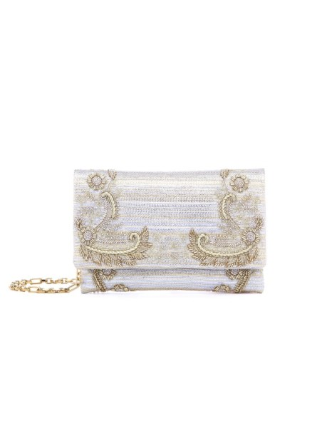 Oscar de la Renta champagne bridal bag