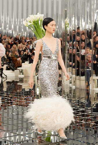Chanel Haute Couture Feathers 2017