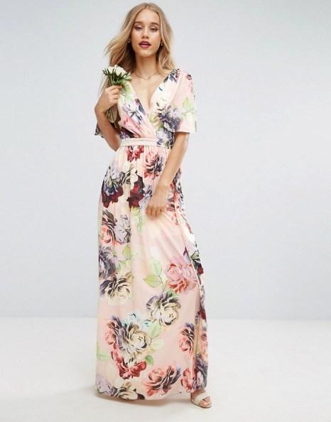 ASOS Soft Flutter Sleeve Maxi Dress