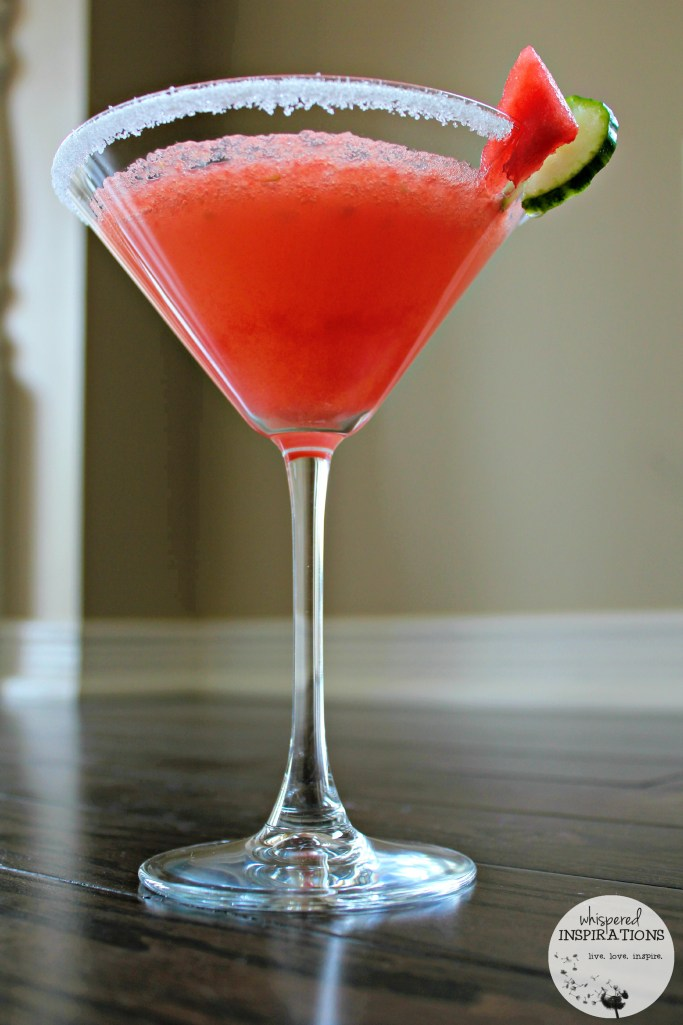 A delicious watermelon and cucumber drink.