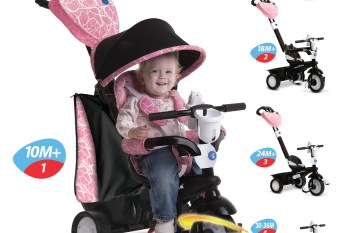 SmarTrike 4-in-1 Touch Steering Chic Tricycle: Enter to WIN a Parent-Controlled Trike That Grows With Your Child. (ARV $169.99)
