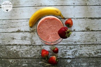 SunRype Frullo: Try This Strawberry Banana Frullo Smoothie! Completely Guilt-Free! Only 50 Cals & Stevia-Sweetened. #SunRype