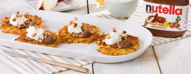 Carrot-Apple-Latkes-Nutella