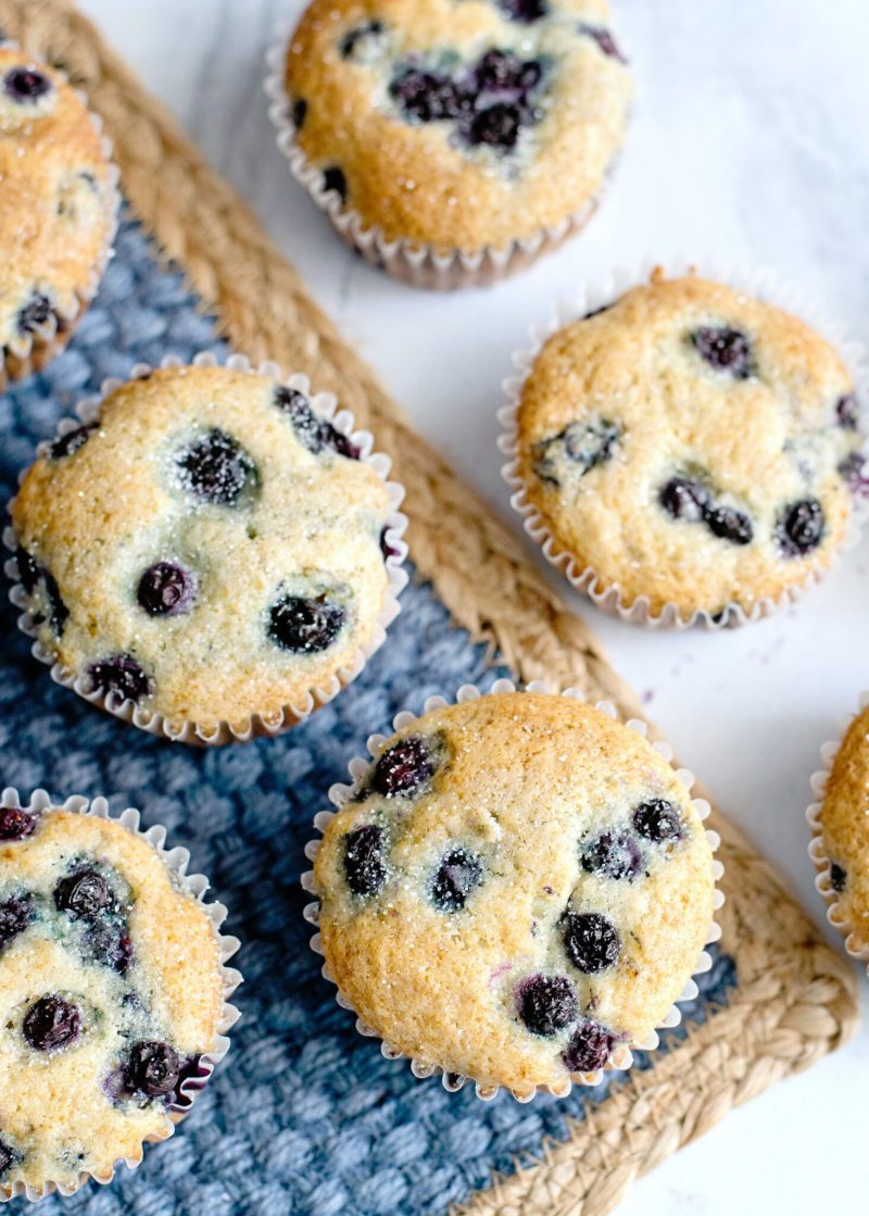 The finished product of Blueberry Pancake Muffins.