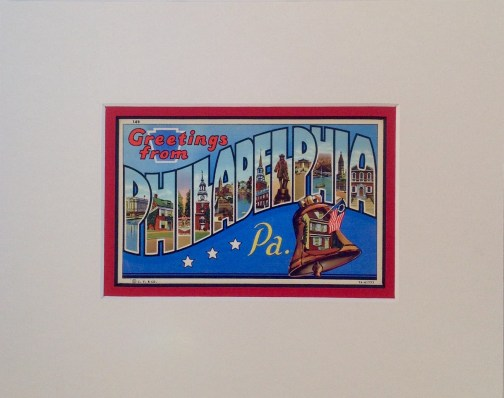 Greetings From Philadelphia Vintage Postcard $25