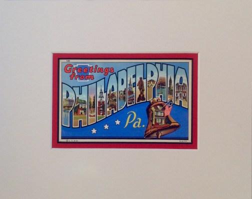 Greetings From Philadelphia Vintage Postcard $25