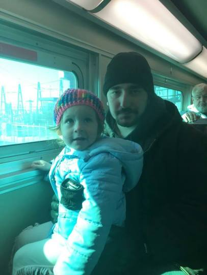 Elaina LOVES riding the train. She's going to love it even more when she gets to the Shedd! (More pics coming, hopefully!)