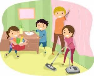 children cleaning