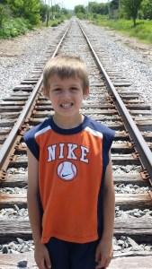 elijah on the tracks