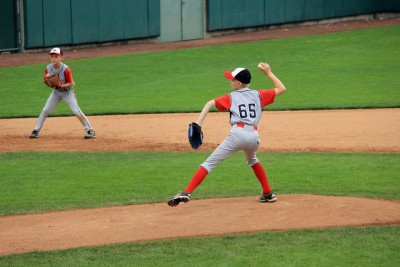 Phinehas pitching at Halfaer Field (photo credit: Angi Krueger)